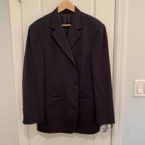 Brooks Brothers suit with silk panels